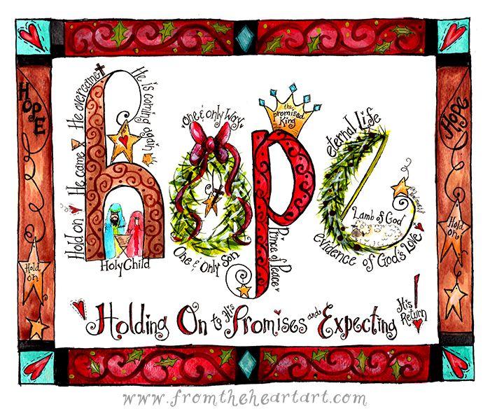Christmas Hope Print ….