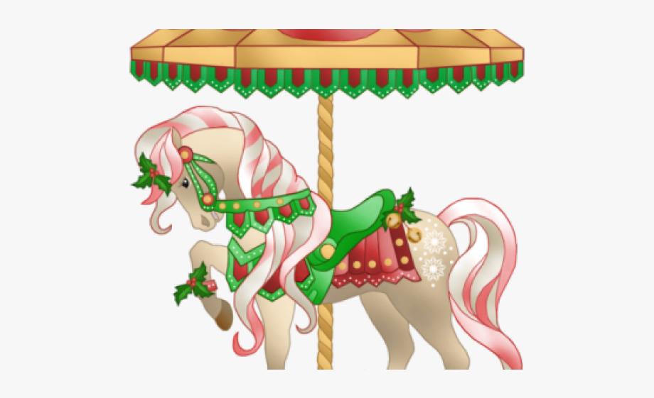 Carousel Clipart Christmas.