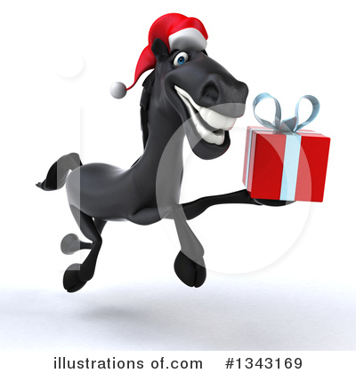 Christmas Horse Clipart #1277819.
