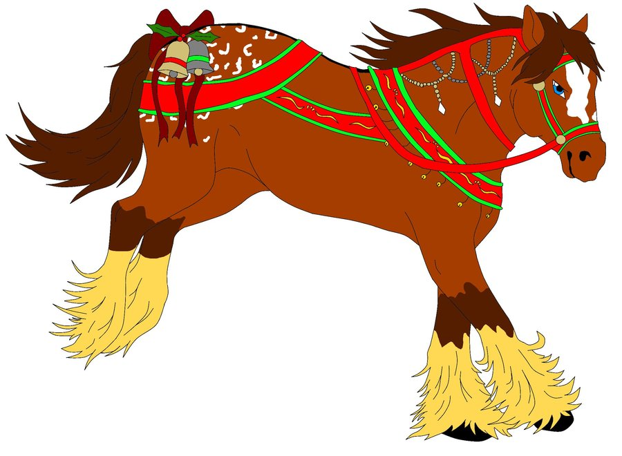 Christmas clip art horse.