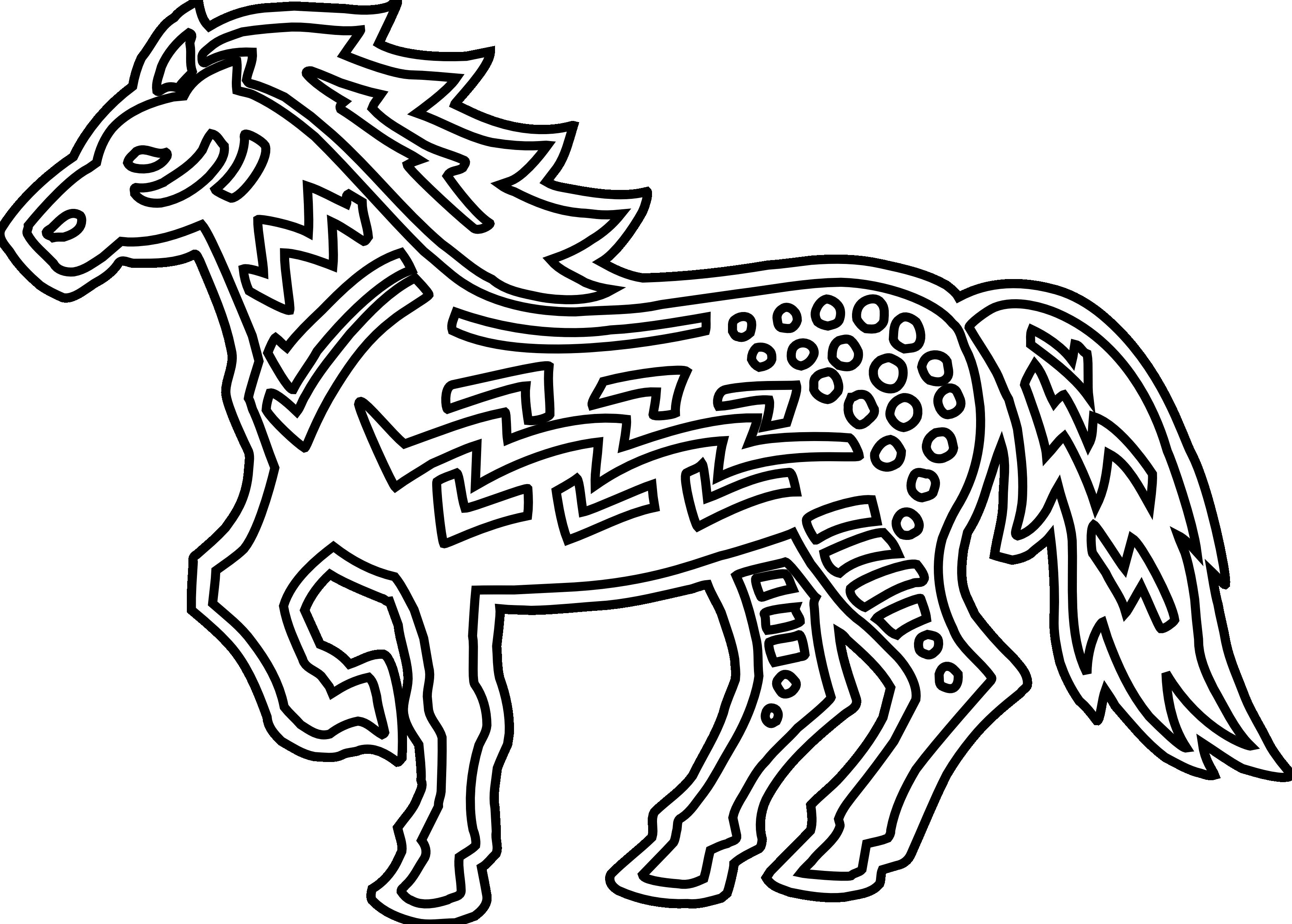 Christmas horse clip art.