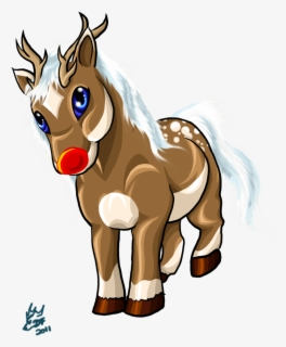 Free Christmas Horse Clip Art with No Background.