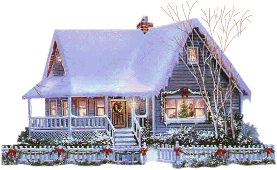 Christmas House PNG Clipart.