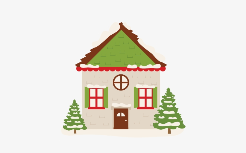 Christmas House Clipart Png ↺.