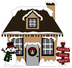 Christmas House Clipart.
