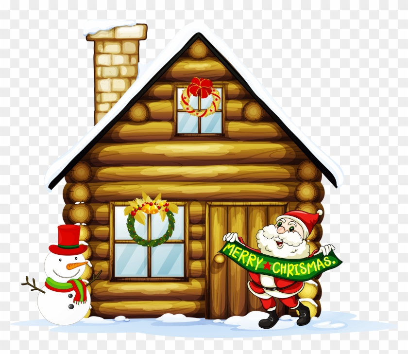 Christmas Village Houses Clipart, HD Png Download.