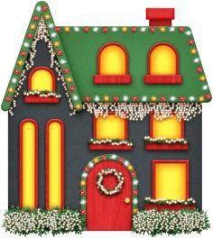 Christmas home clipart.