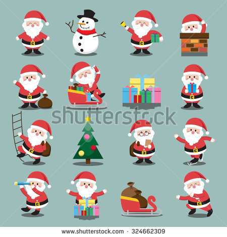 Santa Stock Images, Royalty.