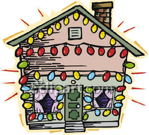 Free christmas house clipart.