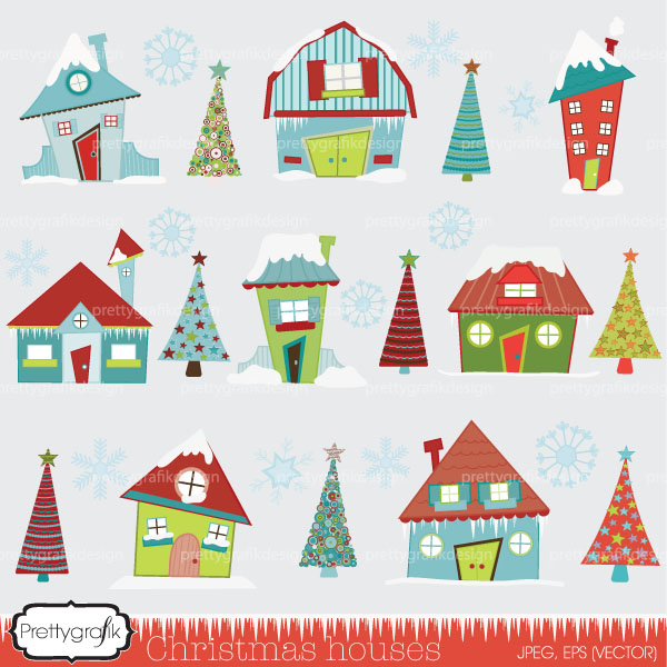 Christmas Clipart House.
