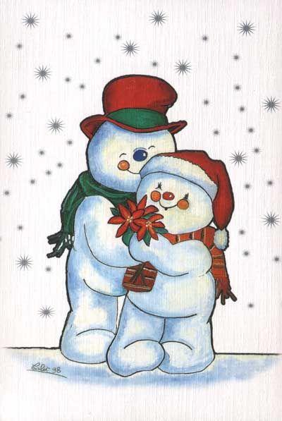 Winter Snowman Hugs.