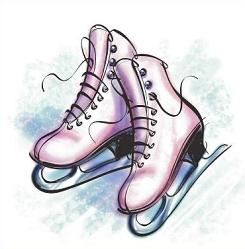 Ice Skating Clip Art, Ice Skate Free Clipart.