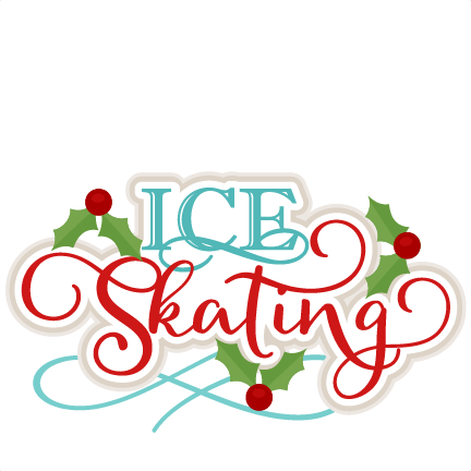 Christmas ice skating clipart.