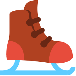 Simple Christmas Ice Skate Icon, PNG ClipArt Image.