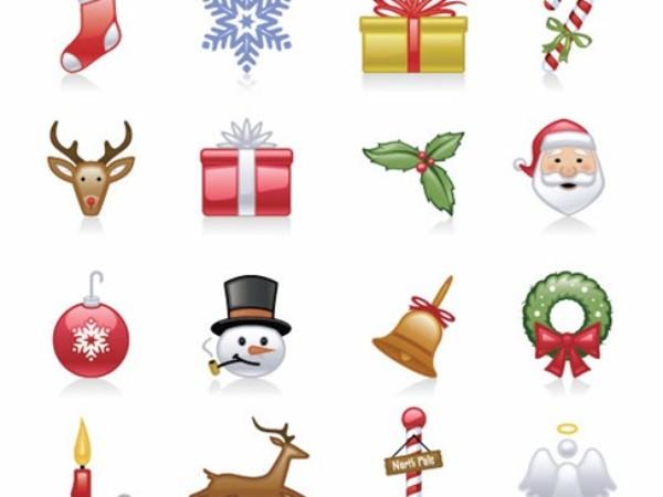 Free Christmas Icons Vector Set.