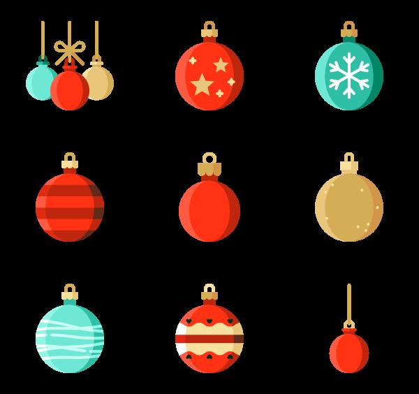 Christmas ball Icons.