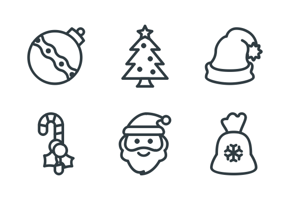 Free Line Christmas Icons icons by Alpár.
