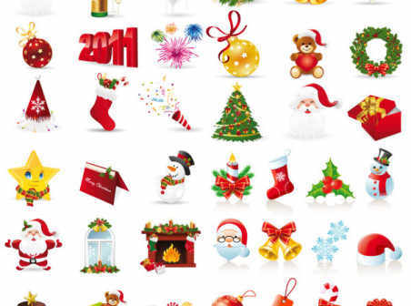 Free christmas icons vector free download.