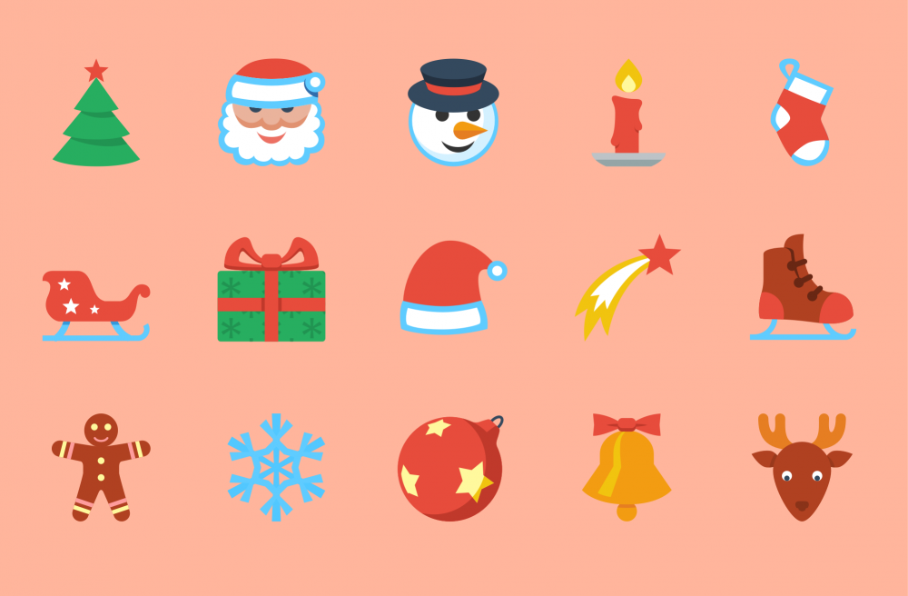 Flat Christmas: Free Icon Packs for All Platforms.