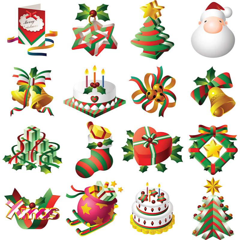 Christmas design clip art #vector.