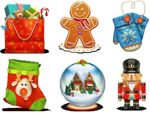 Free Christmas Icon Set.