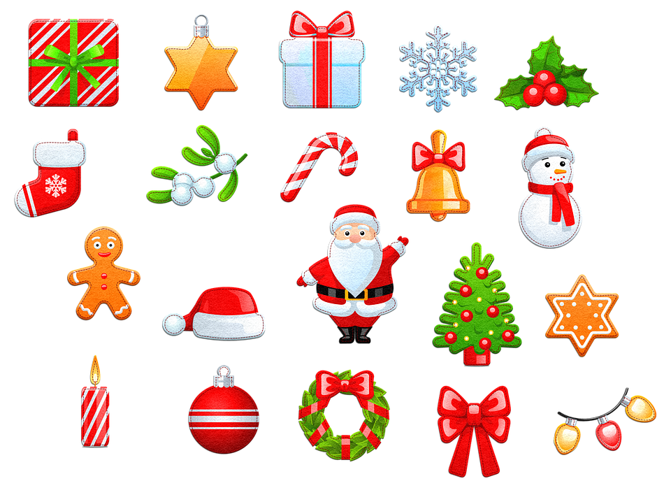 Felt Christmas Icons.