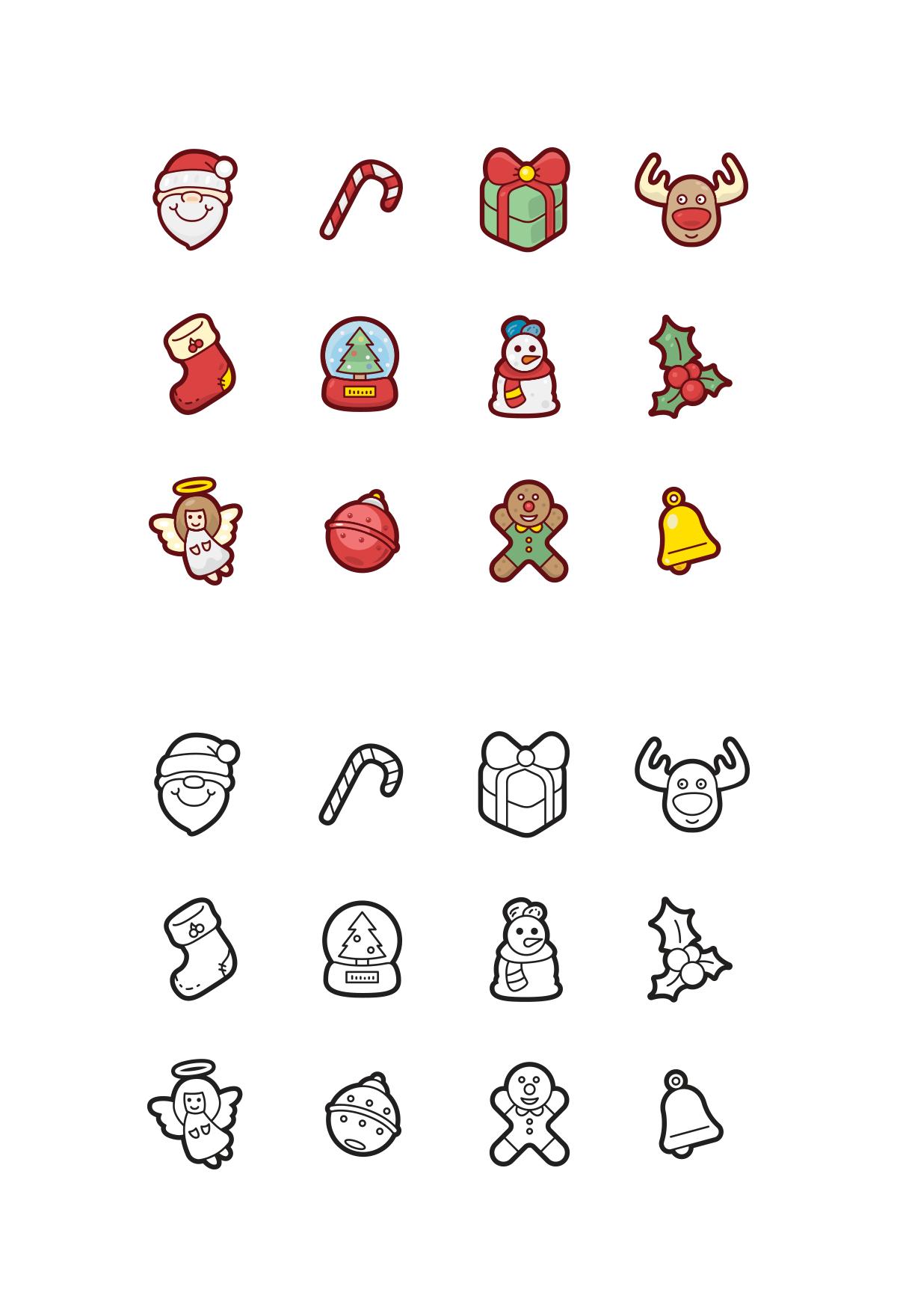 Christmas Icons by NAS ZTUDIO.
