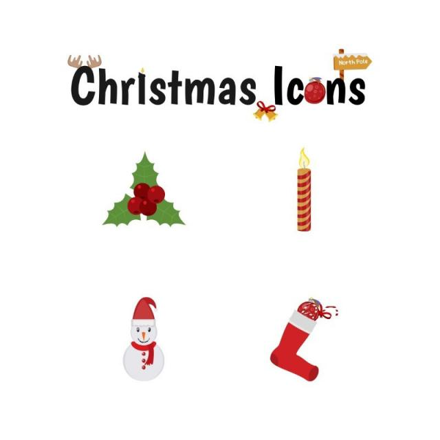 Christmas Icons Set, Christmas, Decoration, Vector PNG and Vector.