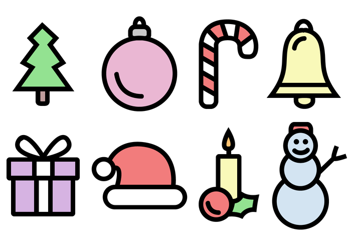 Free Christmas Icons Pack Vector.