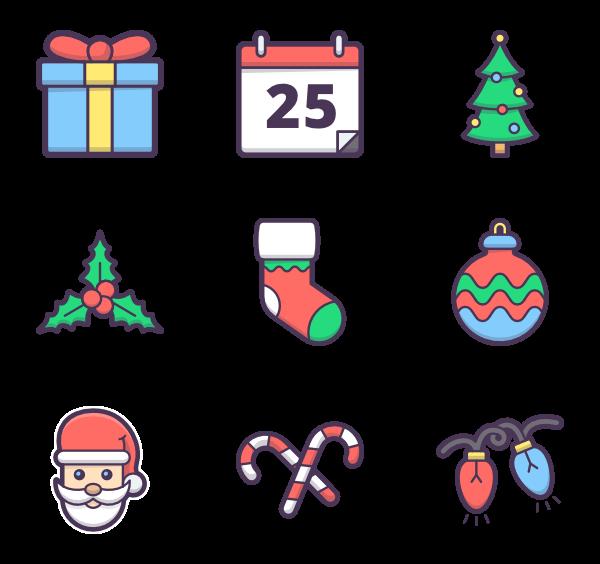 Christmas tree Icons.