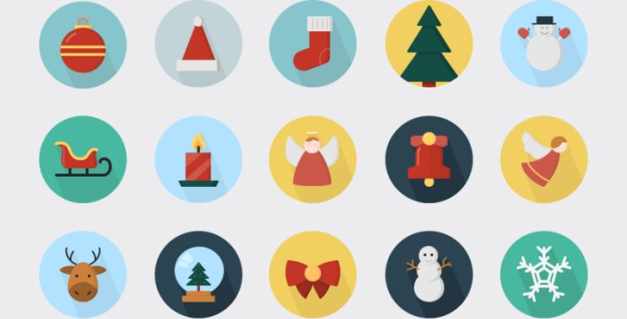 14 Free Christmas Icon sets.