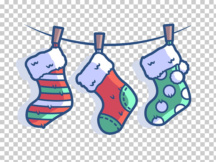 Christmas Illustration, Cute Christmas socks illustration.
