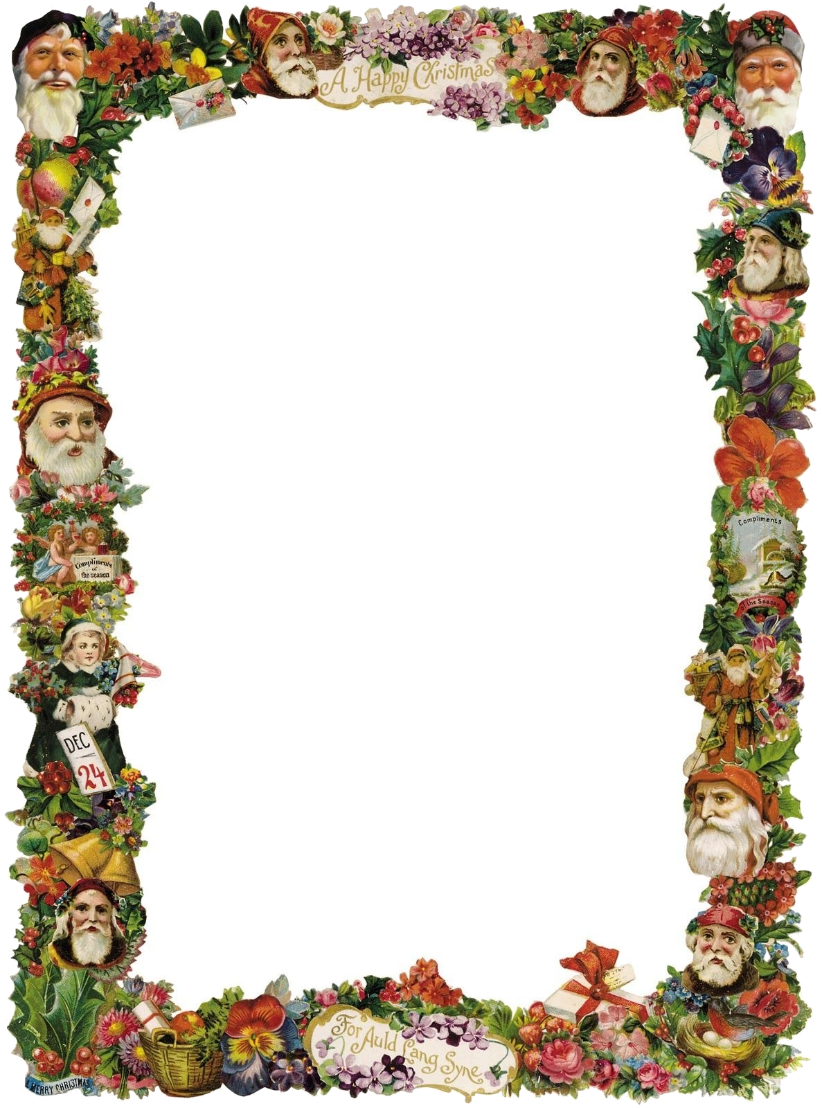 Christmas Border Victorian Borders Clipart Kid Tags For Vintage Clip.