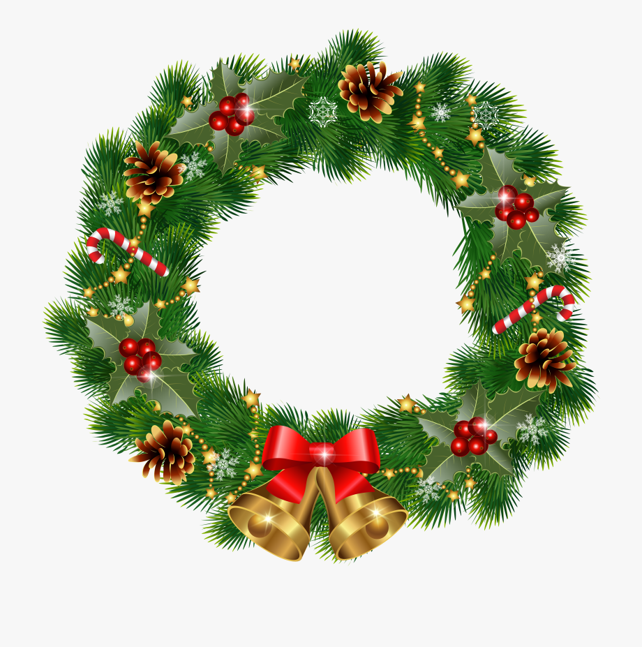 Clip Art Red Christmas Wreath Clipart Free Download.