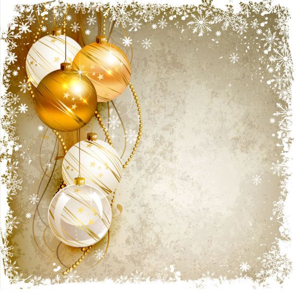 Free download Shiny Ball with Christmas background vector.
