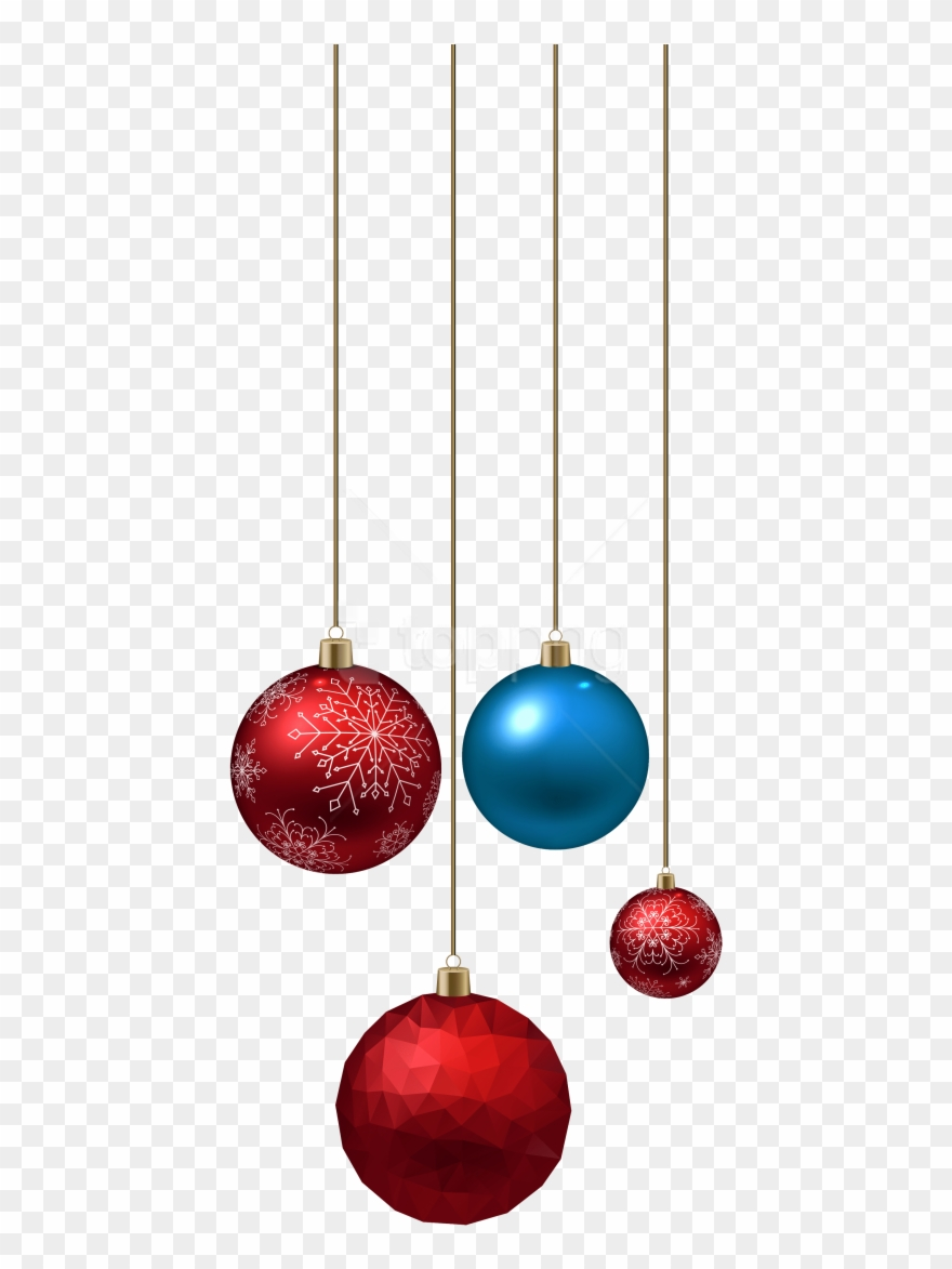 Free Png Download Blue And Red Christmas Ball Clipart.