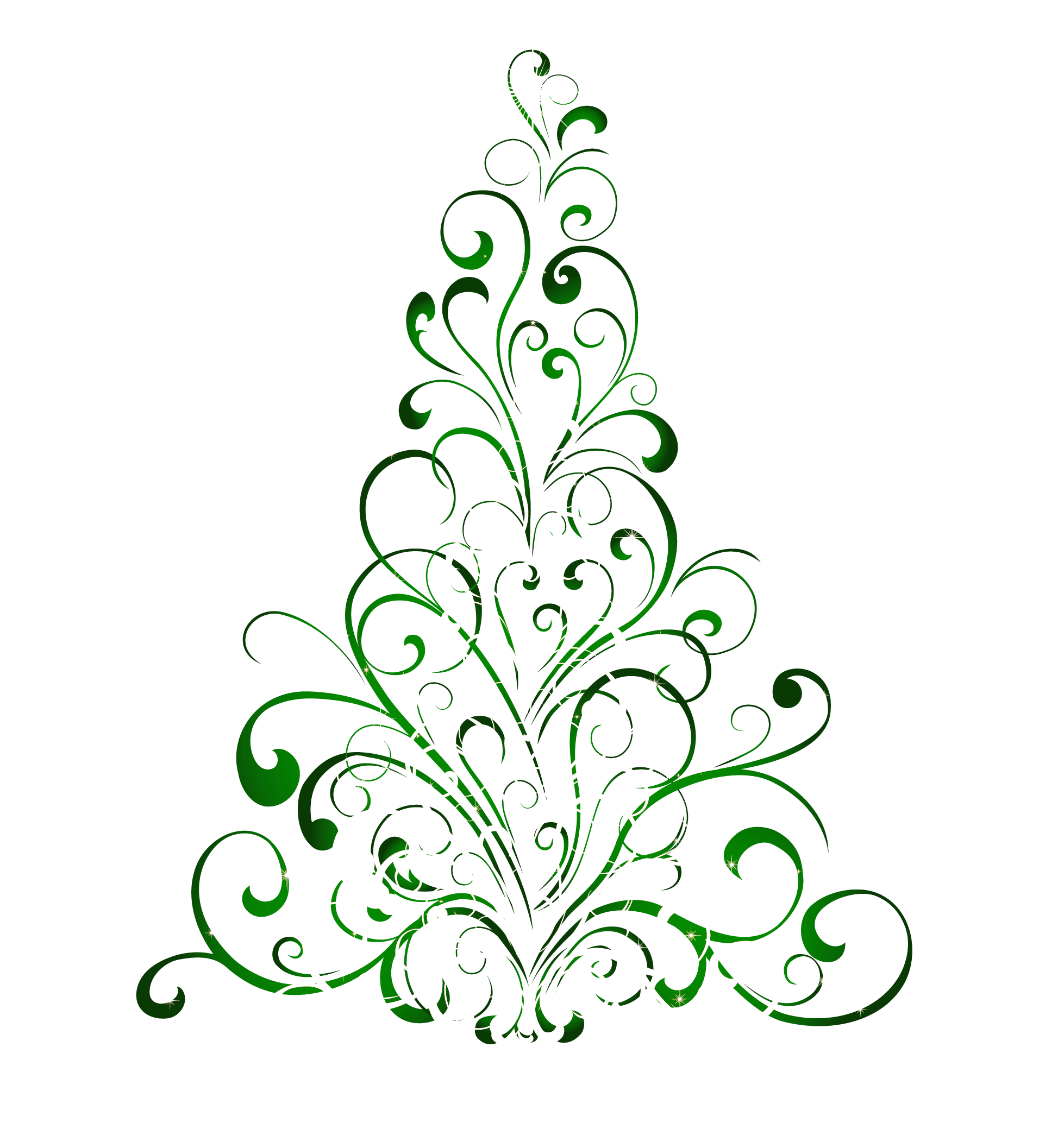 Transparent Green Christmas Tree PNG Clipart.