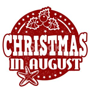 Christmas IN August Stamp premium clipart.
