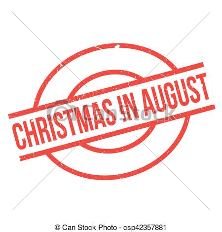 Christmas In August rubber stamp.