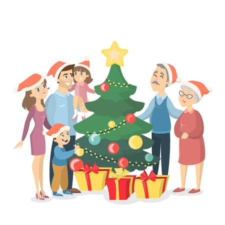 22,802 Christmas Family Cliparts, Stock Vector And Royalty Free.
