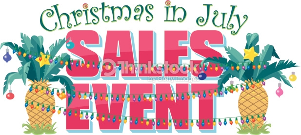 Christmas In July Sales Event Vector Art.