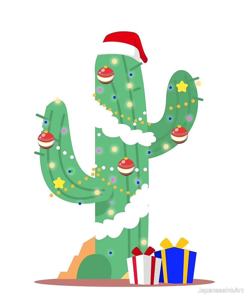 Funny Cactus Christmas Tree Desert Decorated Gifts\
