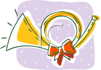 Clipart Picture Of A Christmas Horn.