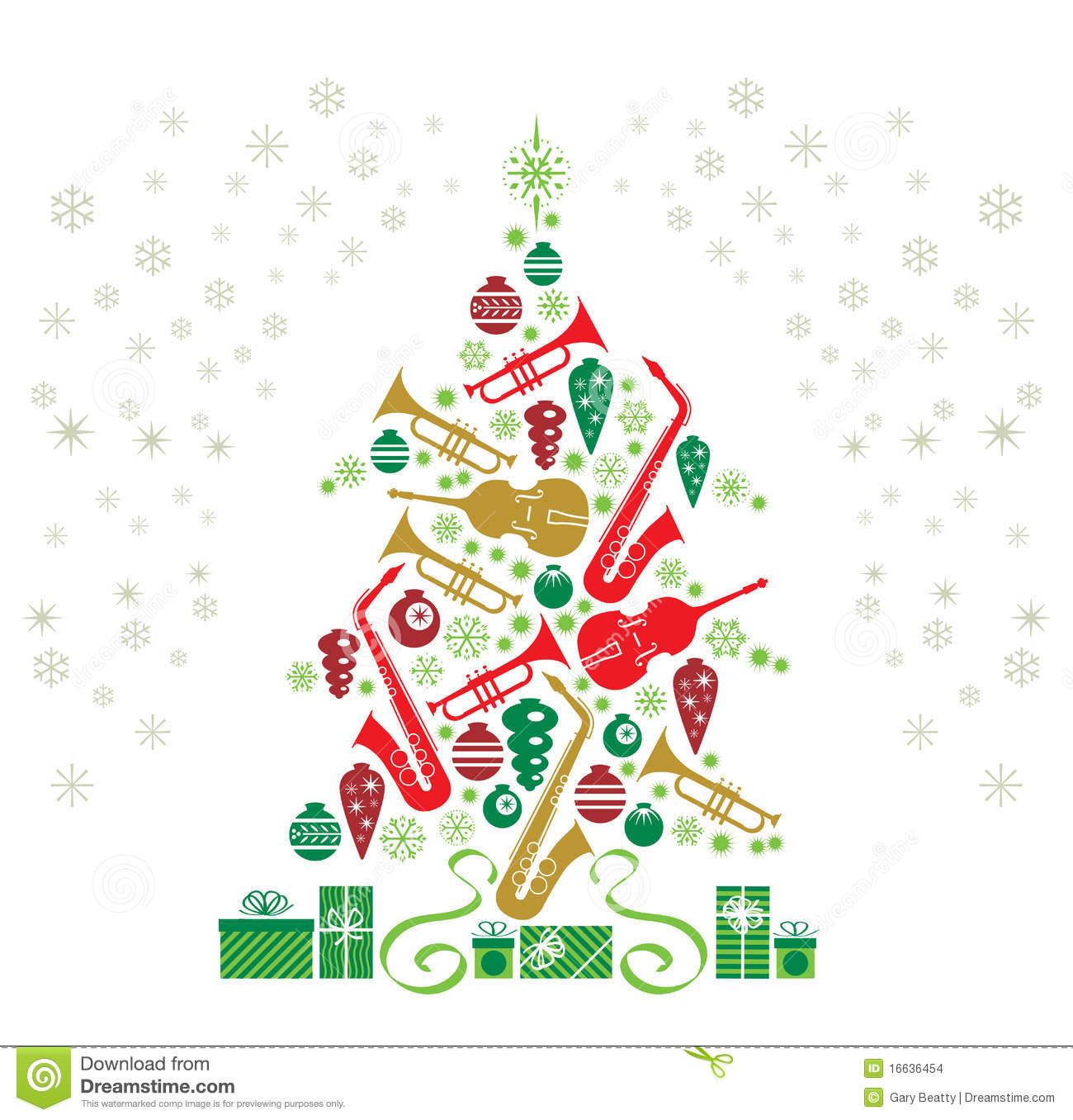 Christmas Tree Jazz stock illustration. Illustration of background.
