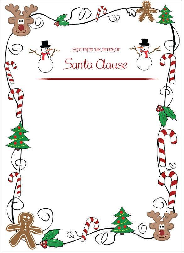 santa claus letter template invitation template.