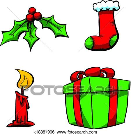 Christmas Items Clip Art.