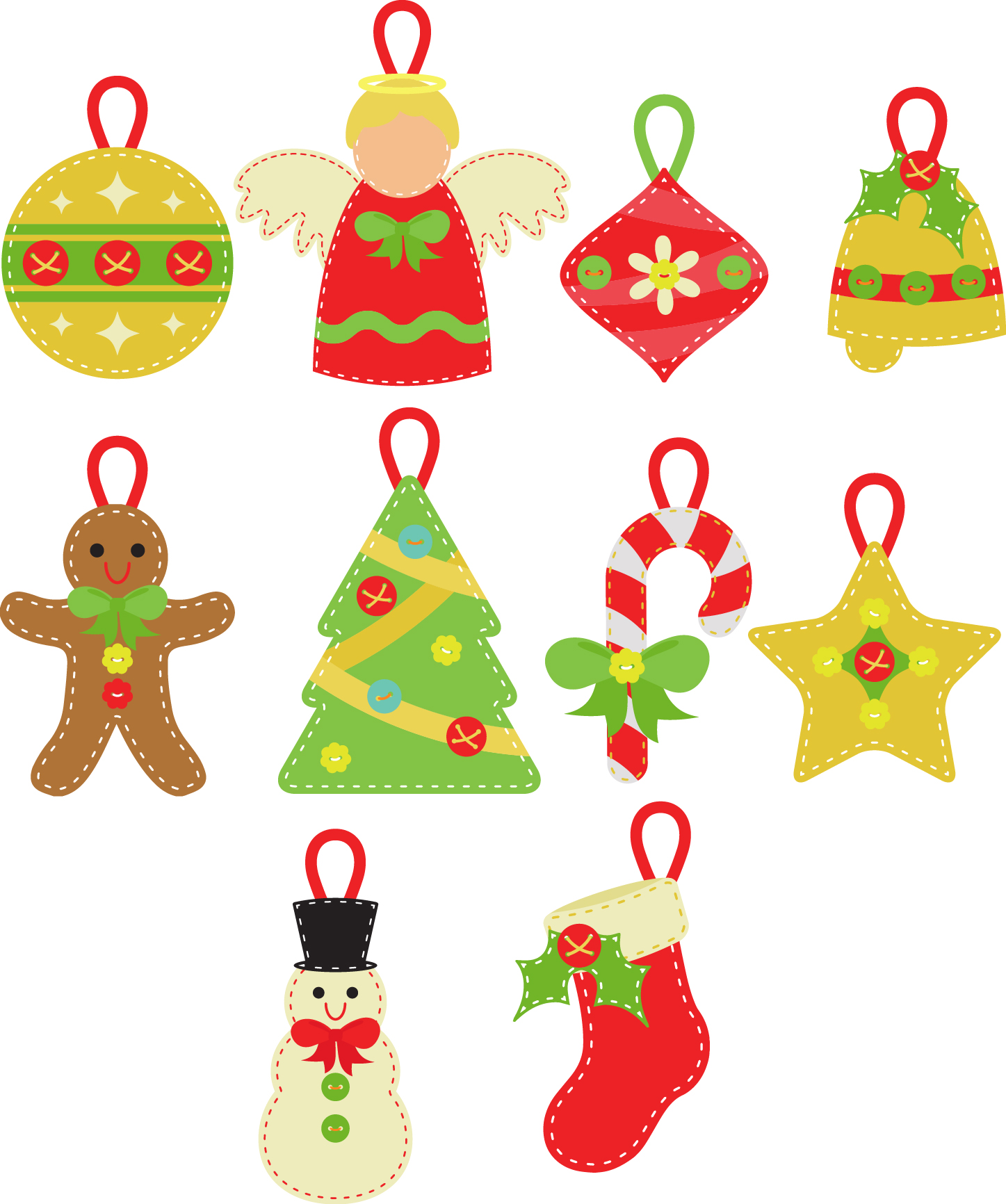 Christmas Set Semi Exclusive Clip Art Set For Digitizing and More.