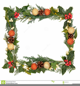 Christmas Ivy Border Clipart.