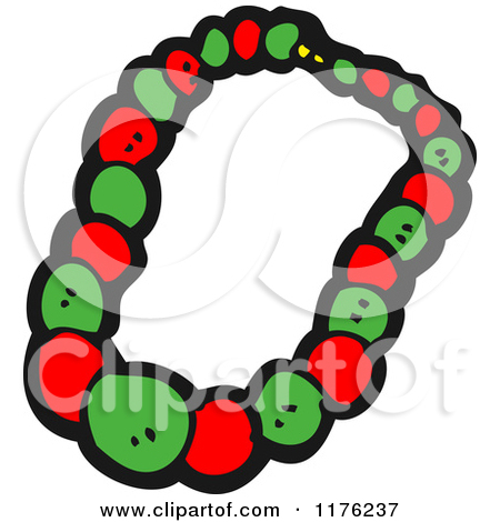 Cartoon of a Red and Green Bracelet.