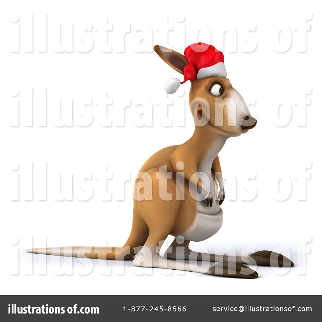 Christmas Kangaroo Clipart #1277790.